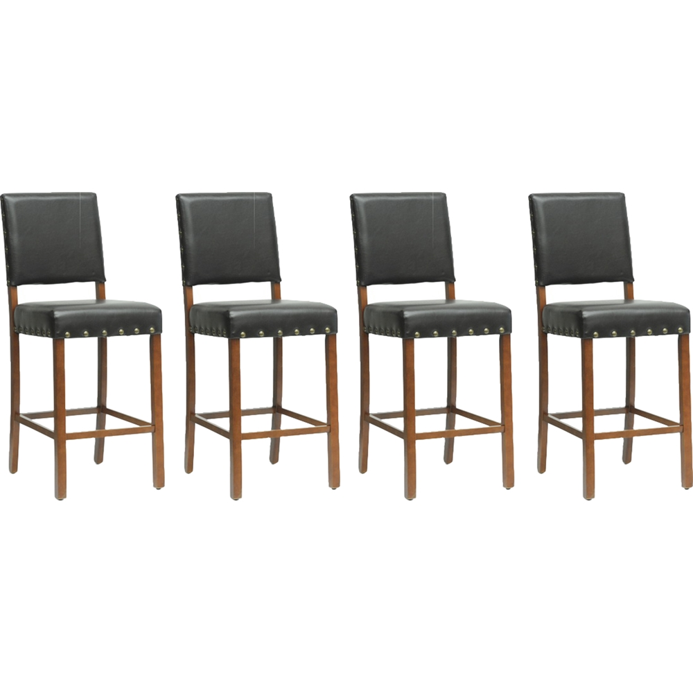 Walter counter stool dark brown set of 4 dcg stores for Cheap bar stools set of 4