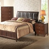 Butler Queen Bedroom Set - Sleigh, Upholstered Headboard, Brown - WI-IDB019-5PC-QUEEN-BED-SET