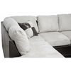 Mancini Sectional & Ottoman - Microfiber Seat, Left Facing Chaise - WI-IDS01ER-BONE-LFC-SOFA-SET