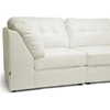 Warren 4-Piece Modular Sectional Sofa - White Leather - WI-IDS020LT-LTB07-WHITE-SET