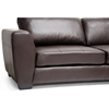 Orland Sectional Sofa - Dark Brown Leather, Right Facing Chaise - WI-IDS023-SEC-LTB01-BROWN-RFC