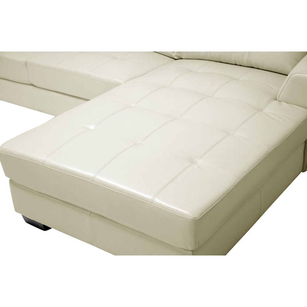Dobson Leather Sectional Sofa Cream Wi Ids070lt Sec