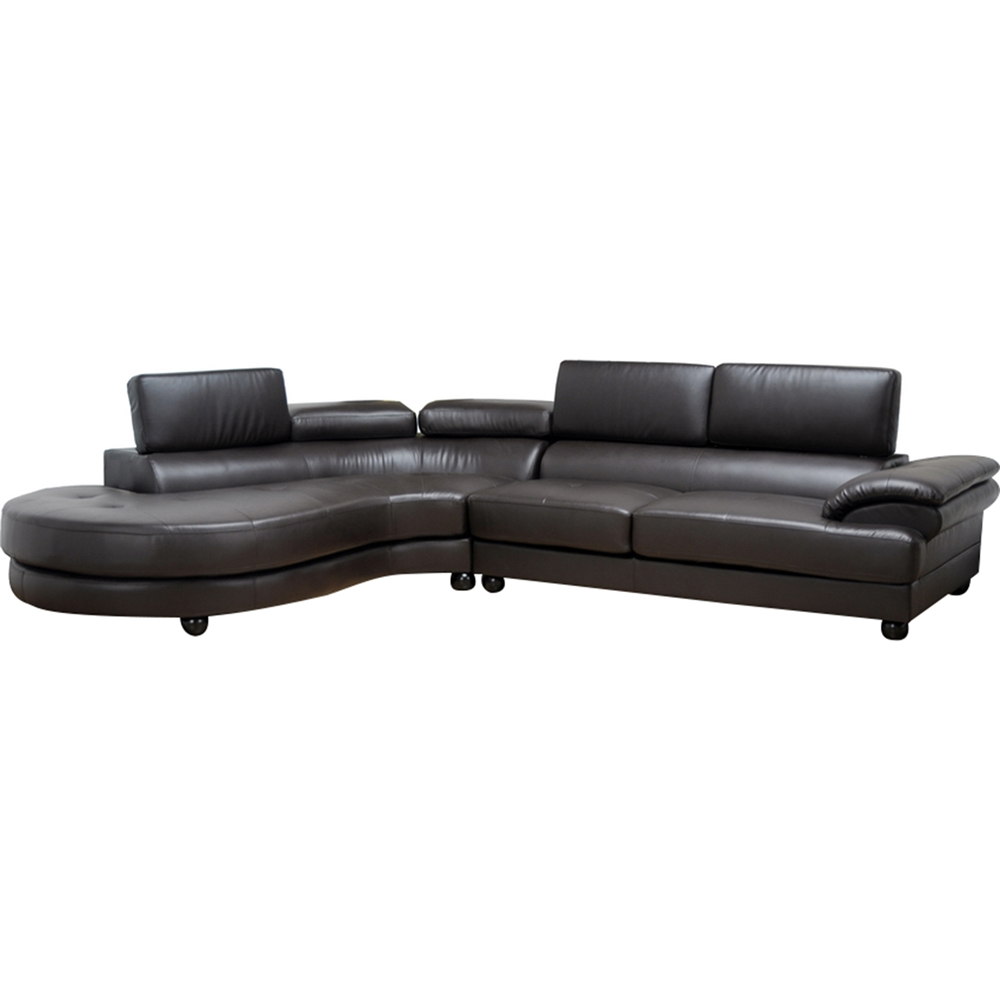 Adelaide Leather Sectional Sofa Left Facing Chaise
