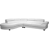 Adelaide Leather Sectional Sofa Left Facing Chaise White Dcg Stores