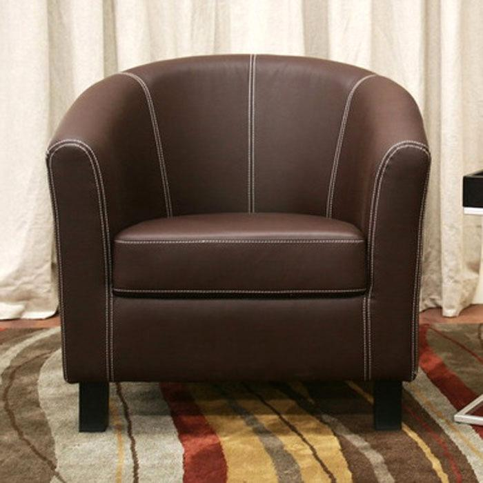 Elijah Dark Brown Modern Club Chair - WI-J-018