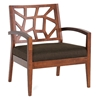 Jennifer Lounge Chair - Arms, Walnut Veneer, Dark Brown Twill - WI-JENNIFER-LOUNGE-CHAIR-109-663