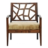 Jennifer Wooden Lounge Chair with Fabric Seat - WI-JENNIFER-LOUNGE-CH