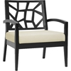 Jennifer Lounge Chair - Black, Khaki - WI-JENNIFER-LOUNGE-CHAIR-110-661