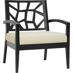Jennifer Lounge Chair - Black, Khaki