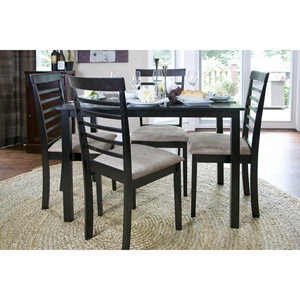Jet Cheer 5-Piece Dining Set - Wenge and Beige