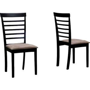 Jet Cheer Dining Chair - Wenge and Beige (Set of 2)