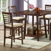 Kelsey 5-Piece Counter Dining Set - Cappuccino Finish, Beige Seat - WI-KELSEY-5-PC-COUNTER-SET