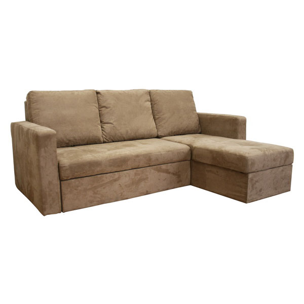 Tila convertible sofa with storage chaise dcg stores for Chaise lounge convertible bed