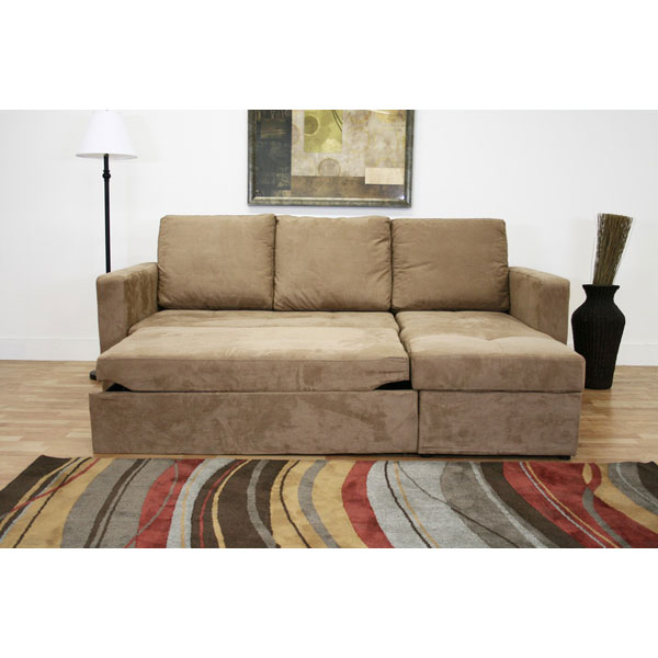 Tila convertible sofa with storage chaise dcg stores for Chaise convertible