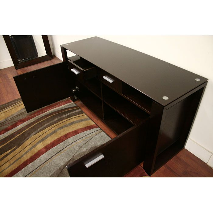 Layton Wenge Wood And Glass Sideboard Dcg Stores