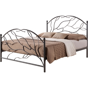 Zinnia Metal Bed - Black