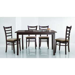 Lanark Dark Brown 5 Piece Dining Set