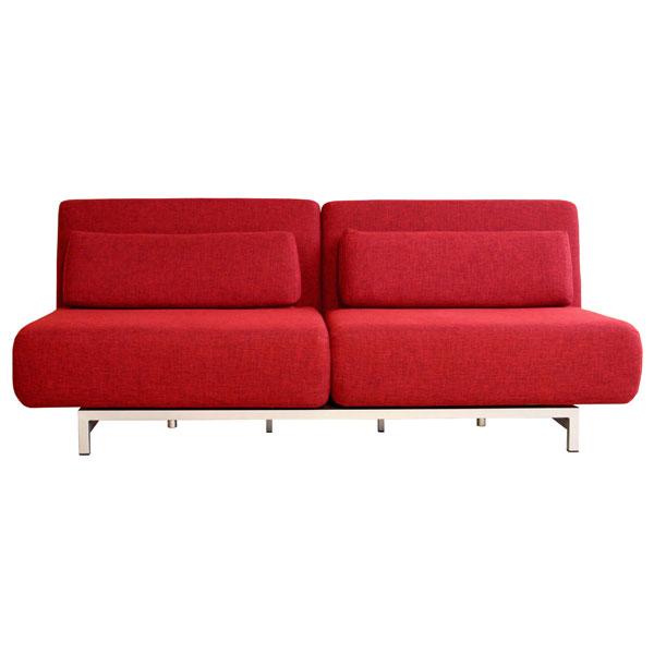Elona Contemporary Convertible Sofa Red DCG Stores