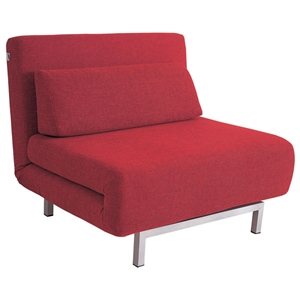 Elona Contemporary Convertible Chair - Red