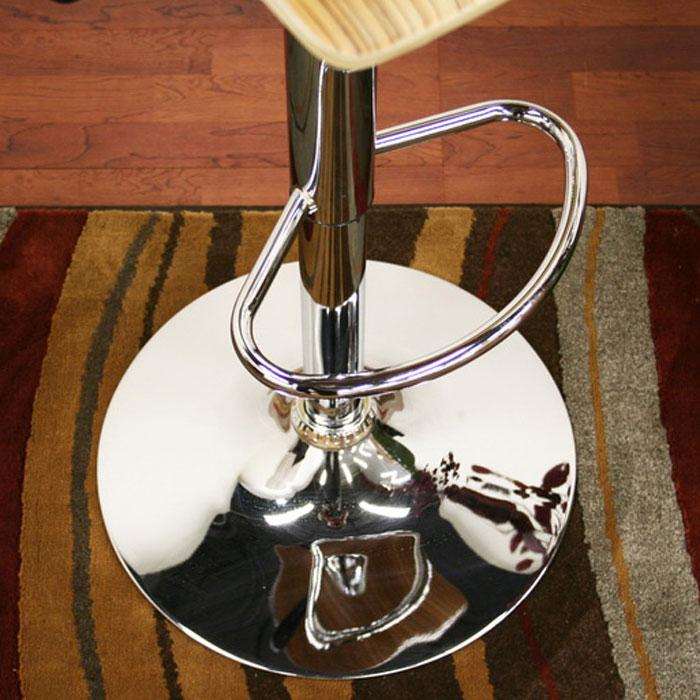 Lidell Wood Adjustable Height Swivel Bar Stool - WI-M-90053-NATURE