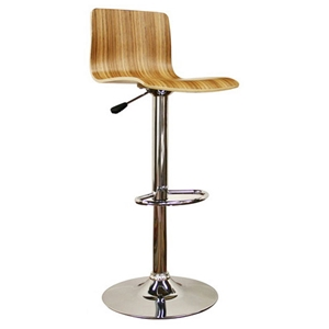 Lidell Wood Adjustable Height Swivel Bar Stool
