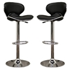 Orion Black Adjustable Height Swivel Bar Stool - WI-M-90064-BLACK