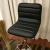 Lyris Black Adjustable Height Swivel Bar Stool - WI-M-90074-BLACK