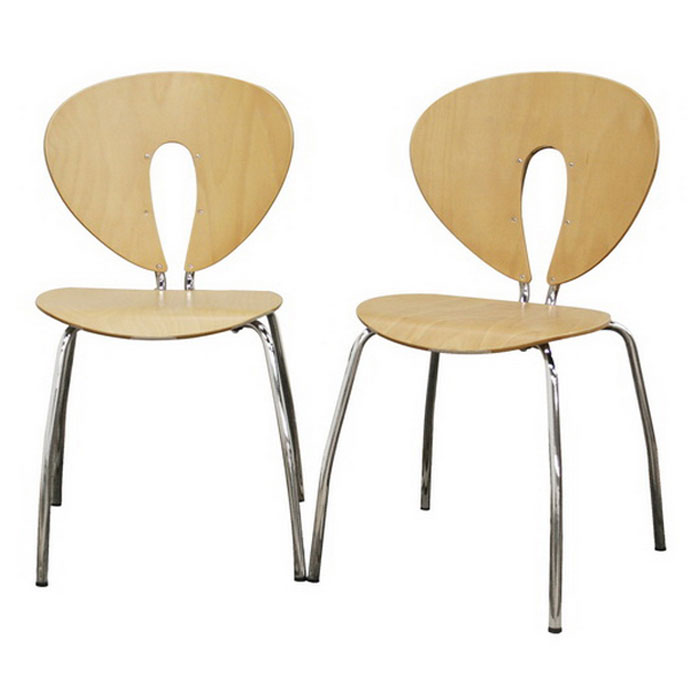 Mali Stackable Molded Plywood Dining Chair - WI-MALI-WOOD-CH
