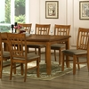 Megan 7-Piece Dining Set - Extension Table, Windowpane Chairs - WI-MEGAN-7-PC-DINING-SET