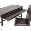 Astoria Computer Desk & Chair Set - Keyboard Tray, Espresso - WI-RT186-TBL-RT186-CHR