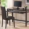Astoria Computer Desk Chair Set Keyboard Tray Espresso