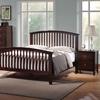 Metropolitan Piece Queen Bedroom Set Slat Bed Wenge Wood