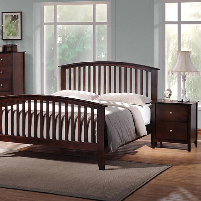 Metropolitan 5-Piece Queen Bedroom Set - Slat Bed, Wenge Wood | DCG ...