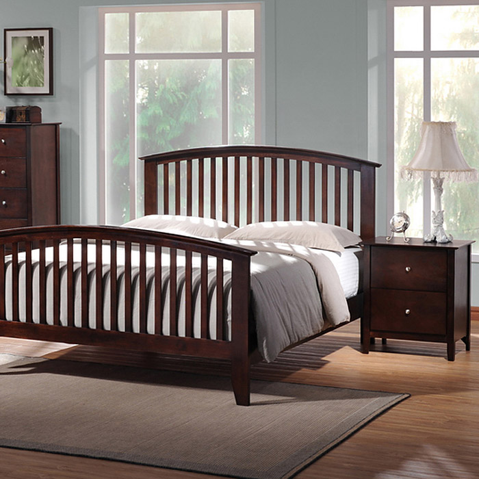 Metropolitan 5 Piece Queen Bedroom Set Slat Bed Wenge Wood Dcg Stores
