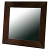 Doniea Dark Brown Wood Frame Square Mirror - WI-MIR-0506049