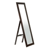 Lund Contemporary Mirror - Built-In Stand, Dark Brown Frame - WI-MIRROR-0506071