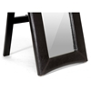 Hurst Upholstered Mirror - Built-In Folding Stand, Dark Brown - WI-MIRROR-0506073-DARK-BROWN