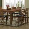Olivia 7-Piece Counter Set - Extension Table, Ladder Back Stools - WI-OLIVIA-7-PC-COUNTER-SET