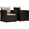 Imperia 4-Piece Outdoor Patio Set - Brown, Light Brown - WI-PAS-1225B