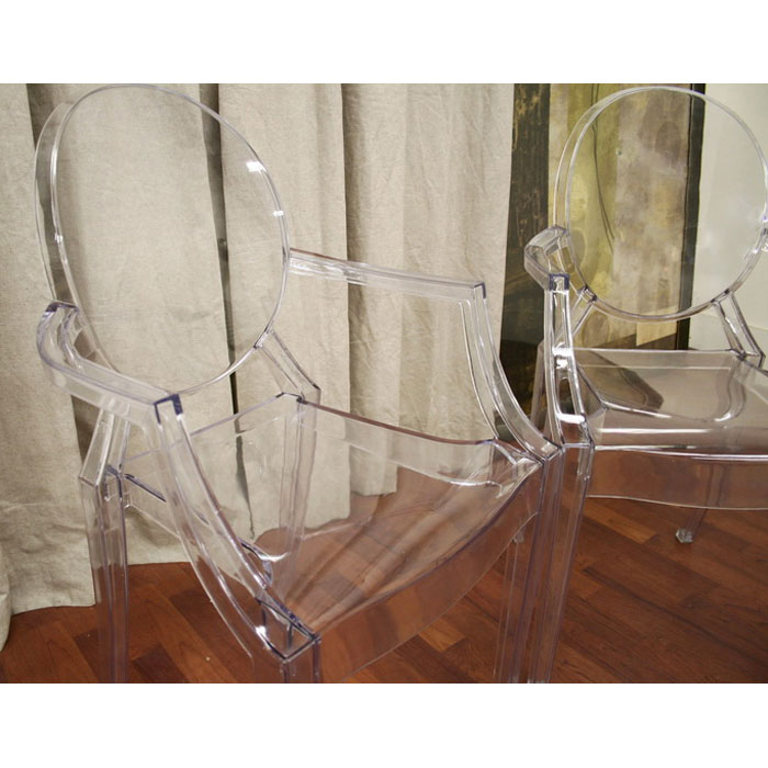 Dreama Modern Acrylic Armed Ghost Chair - WI-PC-449-X