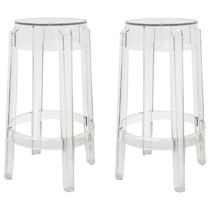 Bettino Clear Acrylic Counter Stool - WI-PC-502B