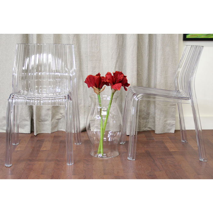 Charo Acrylic Clear Chair - WI-PC-511