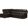 Swell Roland 2 Piece Tufted Recliner Sectional Storage Chaise Ncnpc Chair Design For Home Ncnpcorg