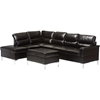 Kinsley 3-Piece Large Sectional Sofa with Ottoman - Faux ...