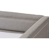 Raymond Fabric Nailhead Twin Daybed - Roll-Out Trundle Bed, Gray - WI-RAYMOND-GRAY-DAYBED