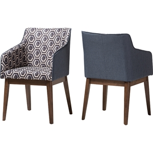 Reece Lounge Chair - Dark Blue (Set of 2)