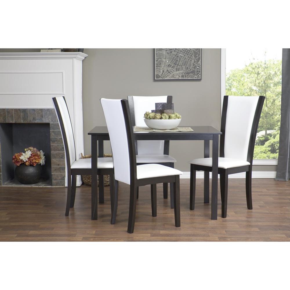 Rinko Parson Dining Chair Dark Brown White Set of 2  : rinko parson 5pc dining set from www.dcgstores.com size 1000 x 1000 jpeg 354kB