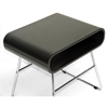 Ramsey End Table - Wenge, Bentwood Top, Chrome Steel Legs - WI-RK055-WENGE-CT