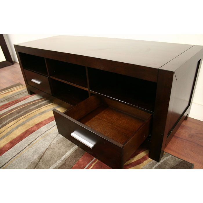 Robbin Dark Brown Wood Media Stand - WI-ROBBIN-TV-CAB-107