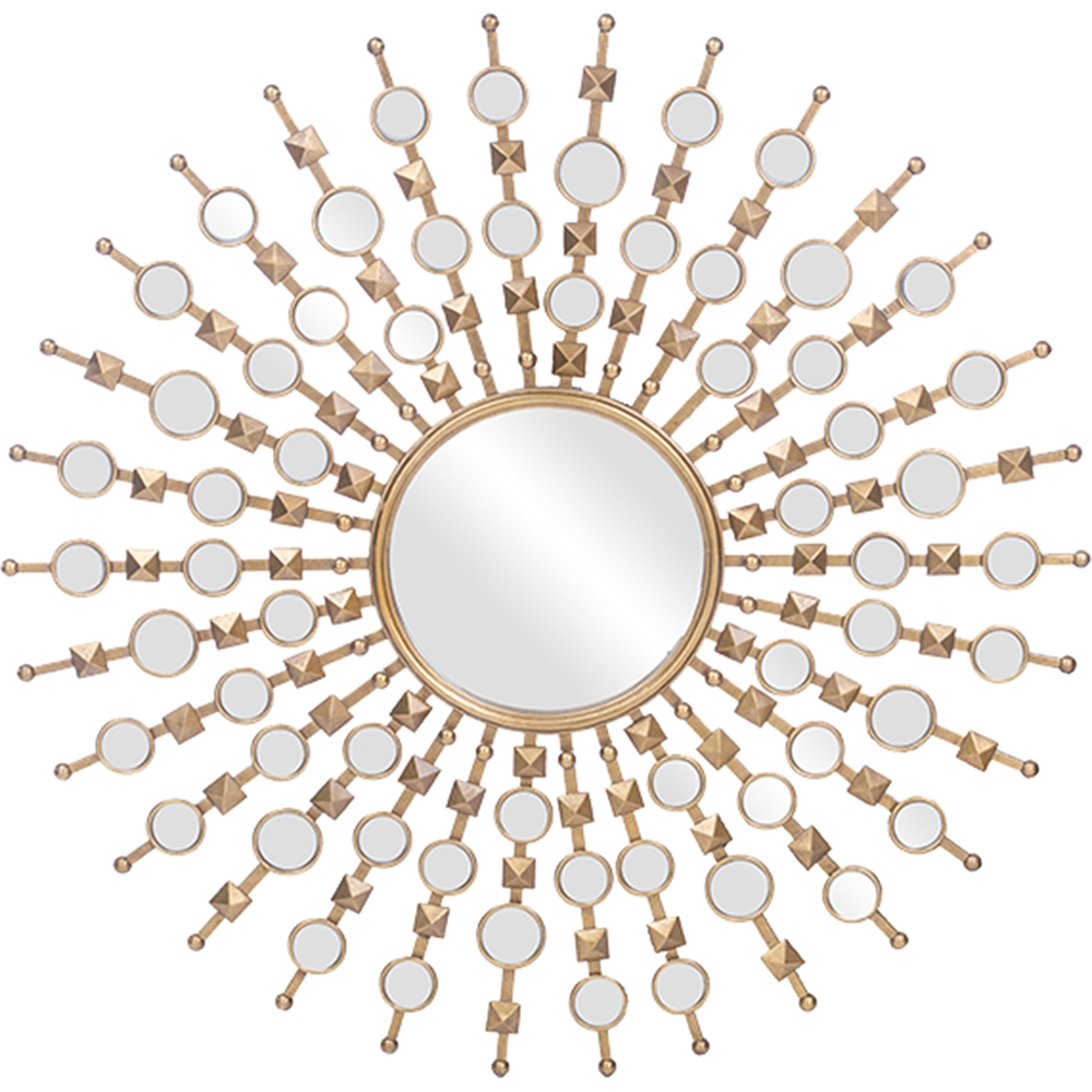 Clancy Round Accent Wall Mirror Gold Dcg Stores